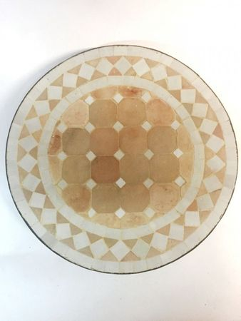 Mosaic table Marrakesch Nature White, 40cm – image 1