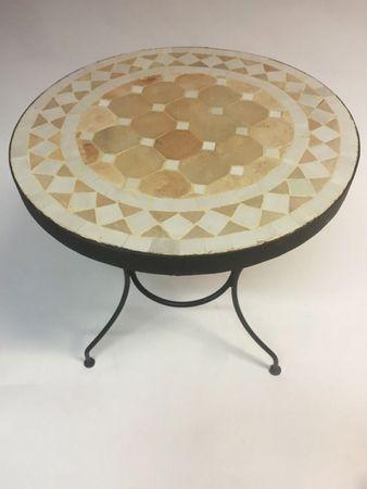 Mosaic table Marrakesch Nature White, 40cm – image 3