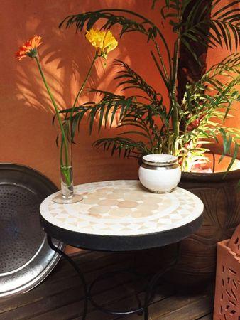 Mosaic table Marrakesch Nature White, 40cm – image 5