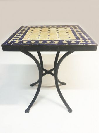 Mosaic table Marrakesch Nature Blue - 40x40cm – image 2
