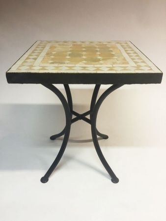 Mosaic table Marrakesch Nature White - 40x40cm – image 2