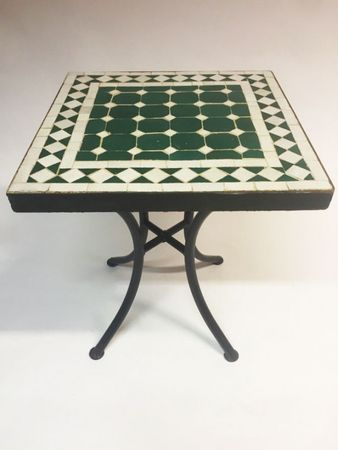 Mosaic table Marrakesch Green White - 40x40cm – image 2