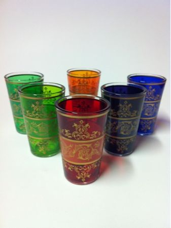 6x Tea Glass Laman (various colors) – image 1