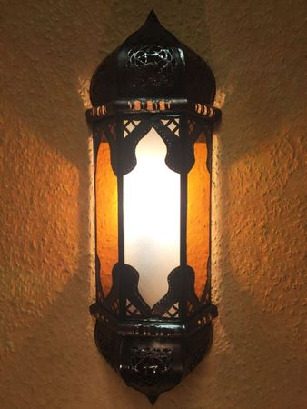 Oriental Wall Lamp Suleika - white orange – image 1