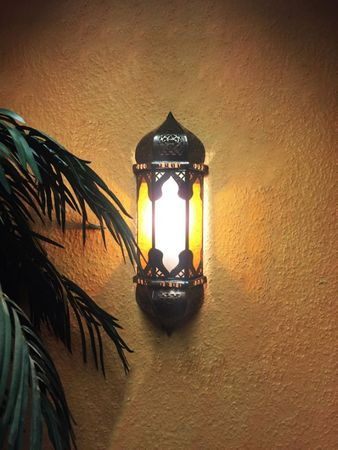 Oriental Wall Lamp Suleika - white orange – image 5