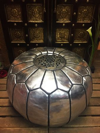 Oriental Seat Cushion Iskandar - silver colored 54cm – image 5