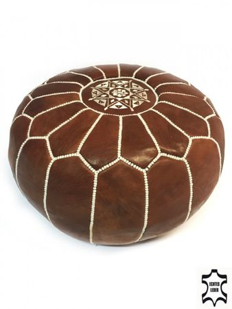 Oriental Leather Seat Cushion Iskandar - brown 54cm – image 1