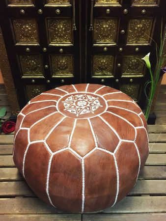 Oriental Leather Seat Cushion Iskandar - brown 54cm – image 5