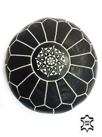 Oriental Leather Seat Cushion Iskandar - darkbrown 54cm – image 2