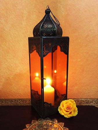 Oriental Indian Lantern Sarala large Orange – image 1