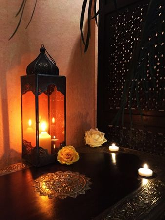 Oriental Indian Lantern Sarala large Orange – image 2