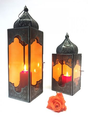 Oriental Indian Lantern Sarala large Orange – image 4