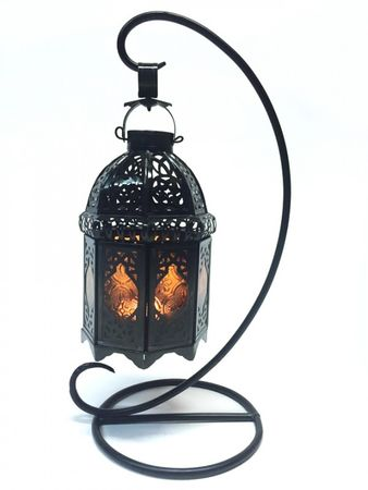 Oriental Lantern Ulima orange, (including lantern stand). – image 1
