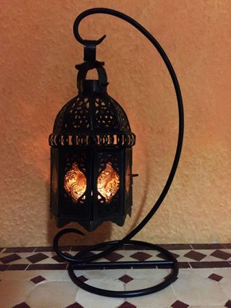 Oriental Lantern Ulima orange, (including lantern stand). – image 3
