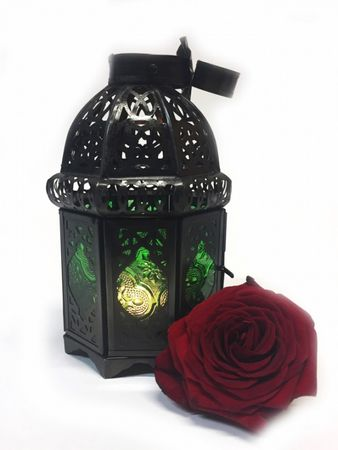 Moroccan Lantern Ulima green, (including lantern stand). – image 4