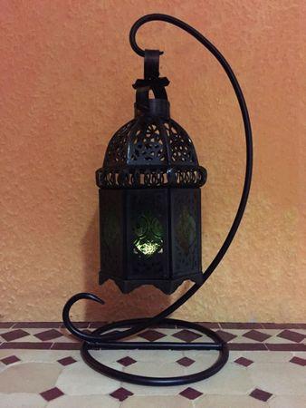 Moroccan Lantern Ulima green, (including lantern stand). – image 3