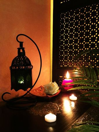 Moroccan Lantern Ulima green, (including lantern stand). – image 2