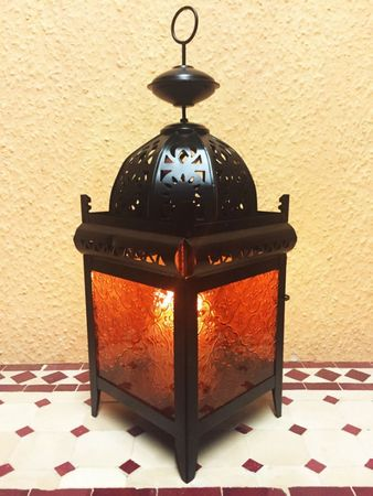 Moroccan Lantern Shadia orange – image 4