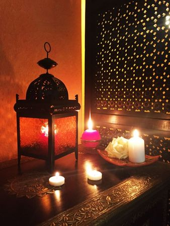 Moroccan Lantern Shadia orange – image 2