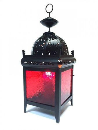 Moroccan Lantern Shadia red – image 1