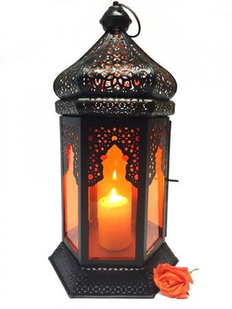 Oriental Indian Lantern Yesim Orange – image 1