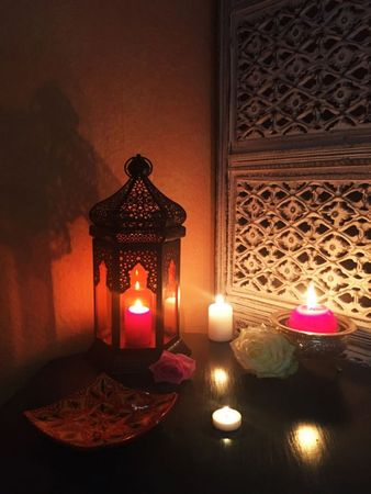 Oriental Indian Lantern Yesim Orange – image 3