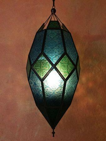 Oriental Moroccan Hanging Lantern Sushila blue – image 4
