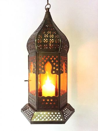 Oriental Ceiling Lamp Dilip orange – image 3