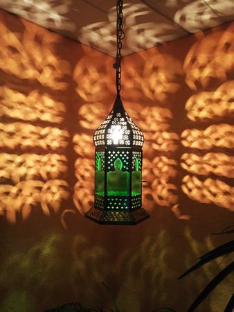 Oriental Ceiling Lamp Dilip Green – image 2