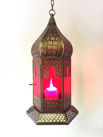 Oriental Ceiling Lamp Dilip Red – image 3