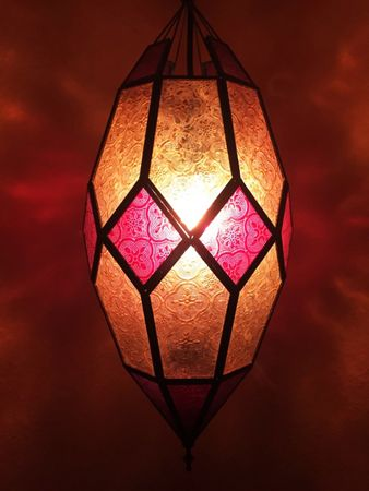 Oriental Ceiling Lamp Sushila Orange – image 1