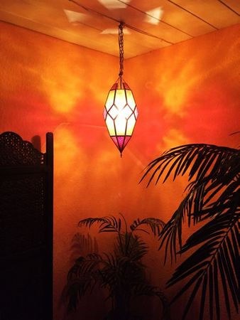 Oriental Ceiling Lamp Sushila Orange – image 2