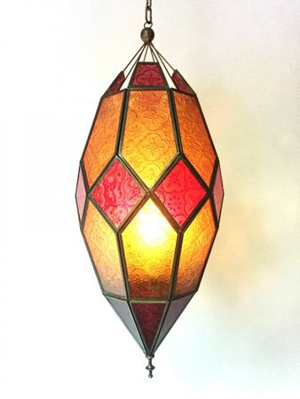 Oriental Ceiling Lamp Sushila Orange – image 3