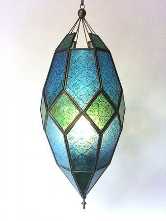 Oriental Ceiling Lamp Sushila Blue – image 3