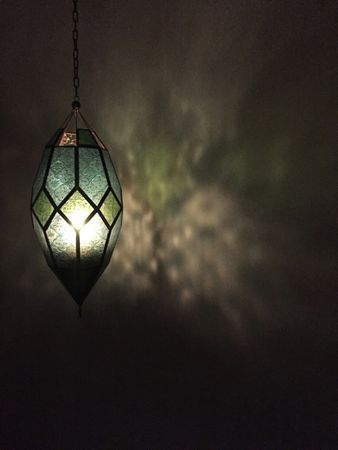 Oriental Ceiling Lamp Sushila Blue – image 4