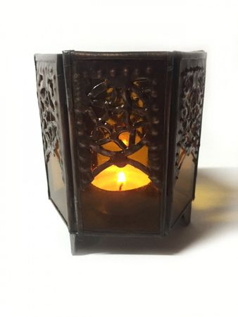 Moroccan Tealights Holder Yasha orange – image 1