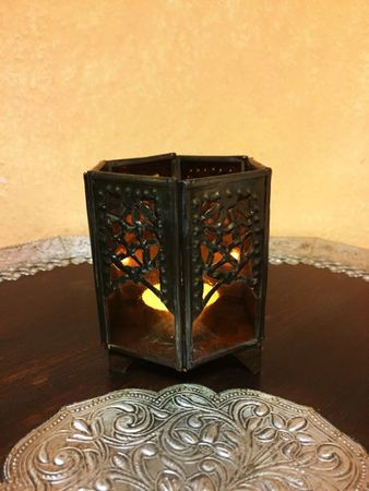 Moroccan Tealights Holder Yasha orange – image 4