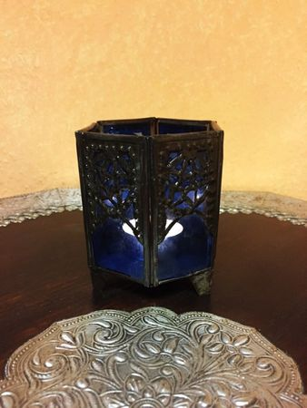 Moroccan Tealights Holder Yasha blue – image 4