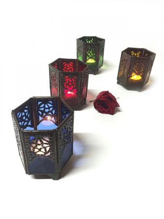 Moroccan Tealights Holder Yasha blue – image 2