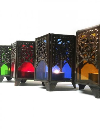 Moroccan Tealights Holder Yasha blue – image 3