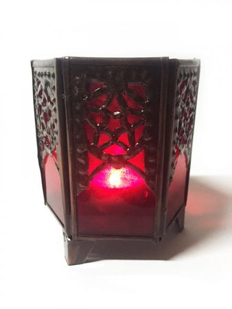 Moroccan Tealights Holder Yasha red – image 1
