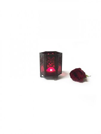 Moroccan Tealights Holder Yasha red – image 3