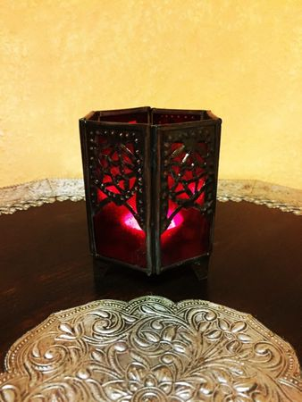 Moroccan Tealights Holder Yasha red – image 4