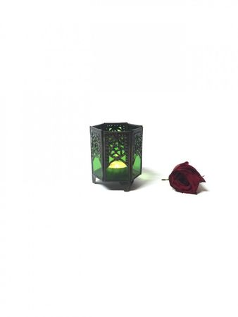 Arabian Tealights Holder Yasha green – image 3