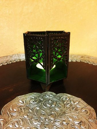 Arabian Tealights Holder Yasha green – image 4