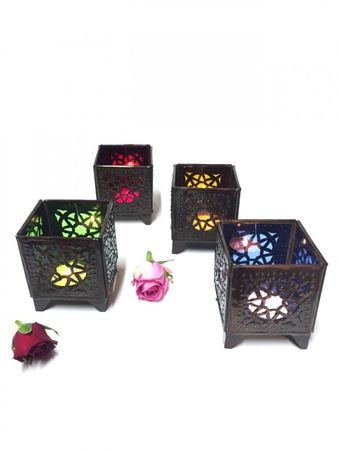 Moroccan Tealights Holder Yanis red – image 3