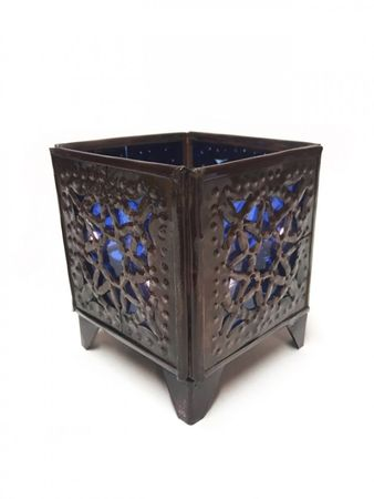 Oriental Tealights Holder Yanis blue – image 1