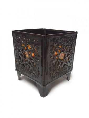 Oriental Tealights Holder Yanis Orange – image 1
