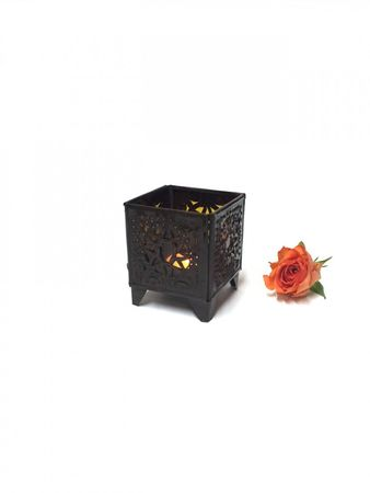 Oriental Tealights Holder Yanis Orange – image 3