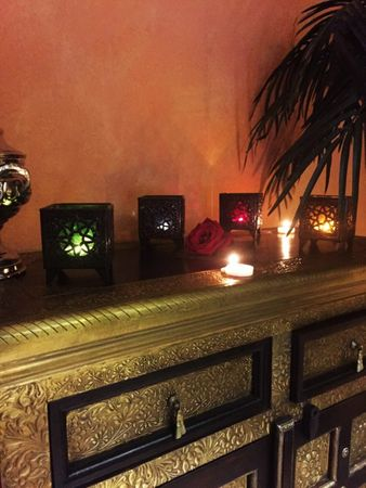 Oriental Tealights Holder Yanis Orange – image 5